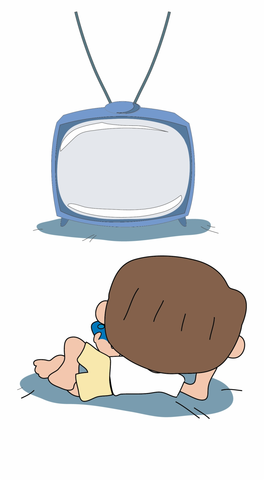 Children watching tv clipart image black and white download Lazy Clipart Couch Tv - Kids Watching Tv Drawing Free PNG Images ... image black and white download