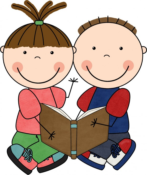 Children with books clipart. Free clip art reading