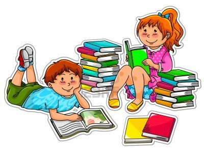 Children with books clipart clipart free library Clip art kids reading books - ClipartFest clipart free library