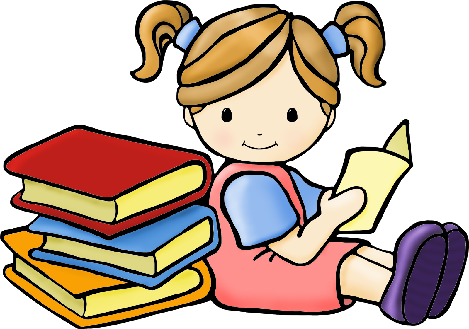 Children with books clipart clipart library download Children reading books clip art - ClipartFest clipart library download