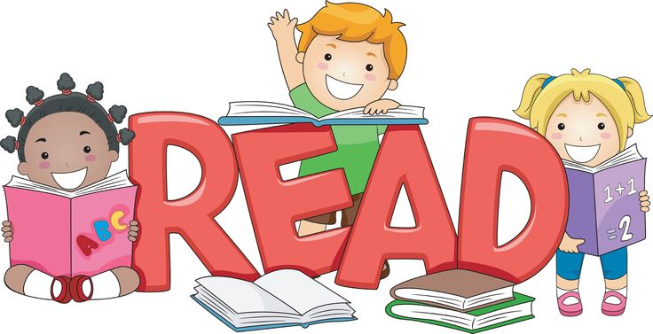 Children with books clipart. Reading clipartfest free