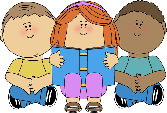 Children with books clipart. Reading clipartfest kids clip