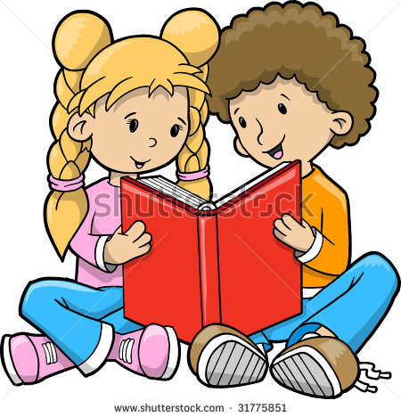Children with books clipart jpg stock Free Clip Art Children Reading Books | Clipart Panda - Free ... jpg stock