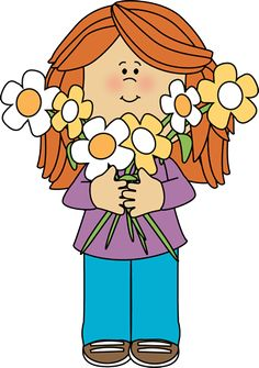 Clipart images of kids hold bouquets of flowers jpg library download 60 Best Clip Art-Kids images in 2018 | Clip art, Art, Nursery teacher jpg library download