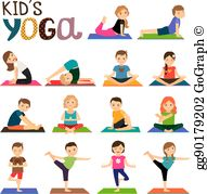 Children yoga clipart free Kids Yoga Clip Art - Royalty Free - GoGraph free