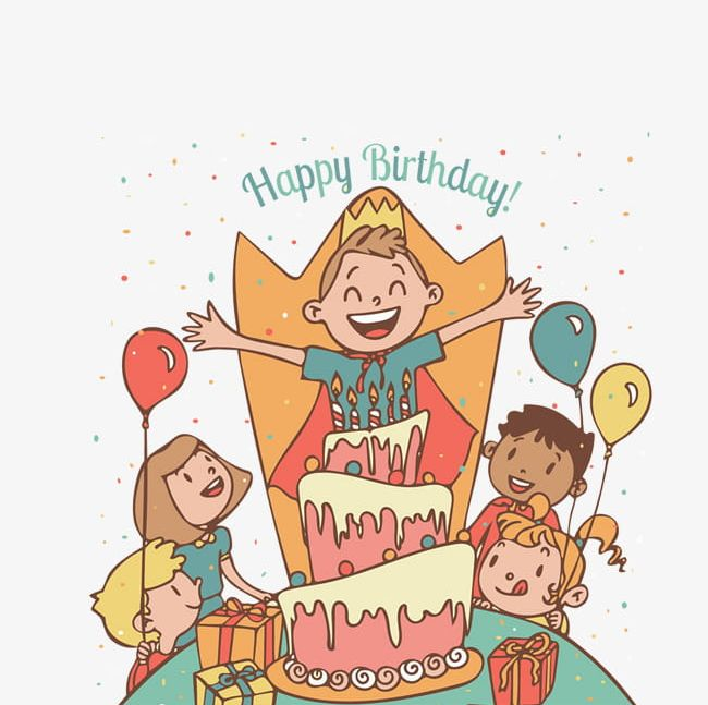 Childrens birthday clipart vector stock Creative Kids Birthday Party PNG, Clipart, Balloon, Birthday ... vector stock