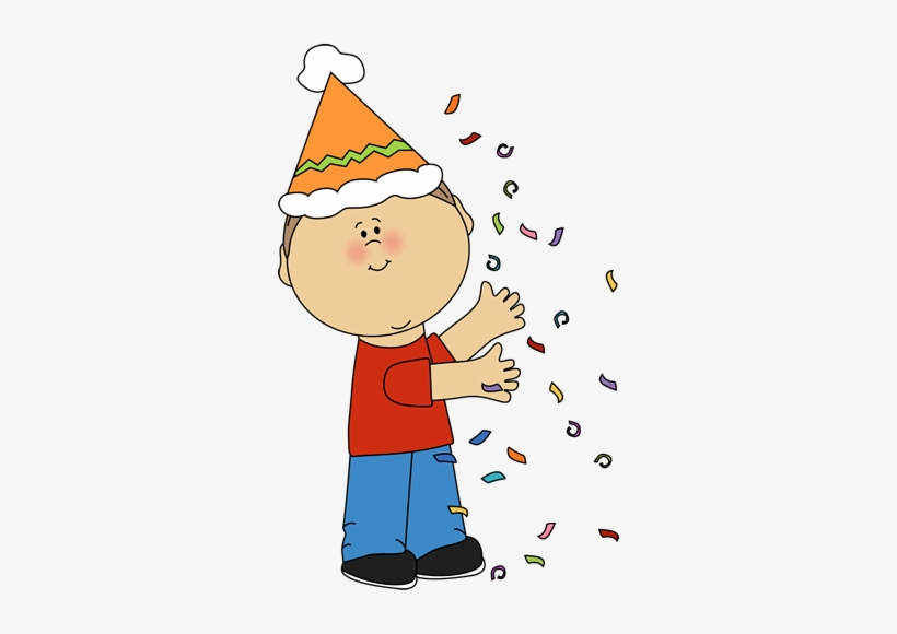 Childrens birthday clipart image library download Kid With Birthday Confetti Clip Art - Kids Birthday Clipart ... image library download