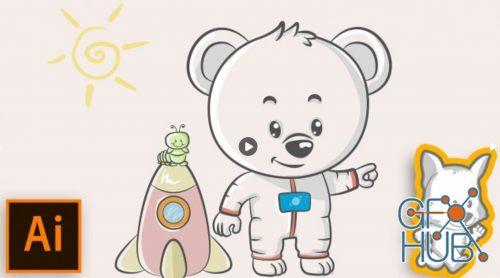 Children-s books watercolor clipart image library library Skillshare – Adobe Illustrator for Children\'s Books: Watercolor Style image library library