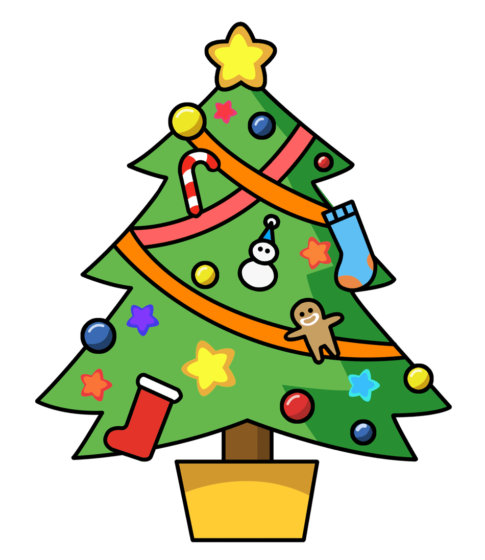 Childrens christmas party clipart vector library library 297 Free Christmas Tree Clip Art Images vector library library