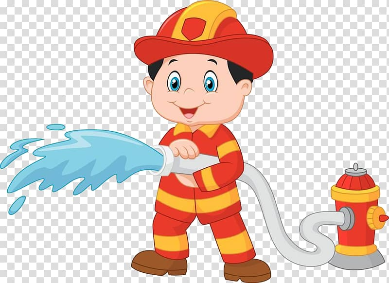 Children-s clipart fire hydri image library Fire fighters transparent background PNG clipart | HiClipart image library