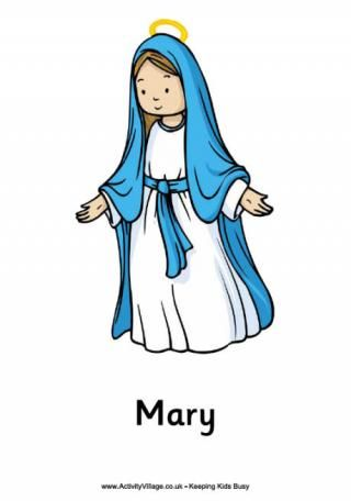 Children-s clipart of mary banner transparent download Nativity Poster - Mary | Z CC CHRISTmas | Nativity, Catholic kids ... banner transparent download
