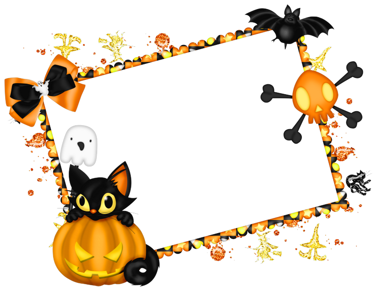 Free halloween frame clipart vector library Cute halloween border frame - free clip art, Childrens halloween ... vector library