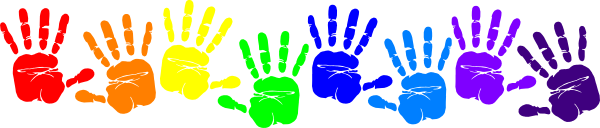 Children-s hand prints clipart picture library stock Free Handprint Border, Download Free Clip Art, Free Clip Art on ... picture library stock