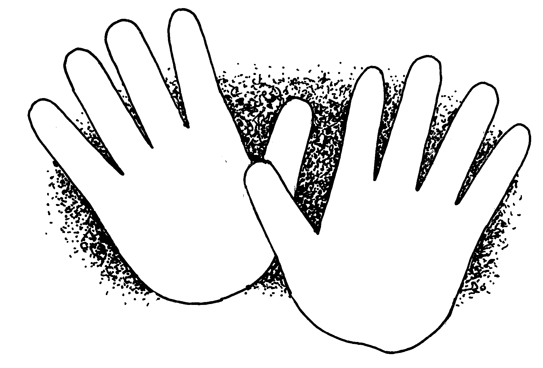 Hands are still black and white clipart vector royalty free library Child Hands Clipart | Clipart Panda - Free Clipart Images vector royalty free library
