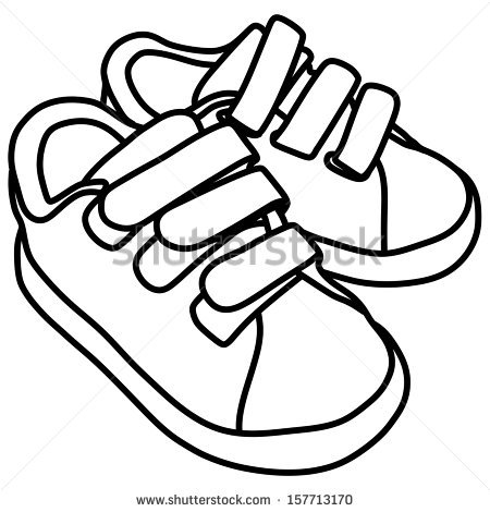 Child-s cartoon sneaker clipart png black and white library Cartoon Shoes Drawing | Free download best Cartoon Shoes Drawing on ... png black and white library