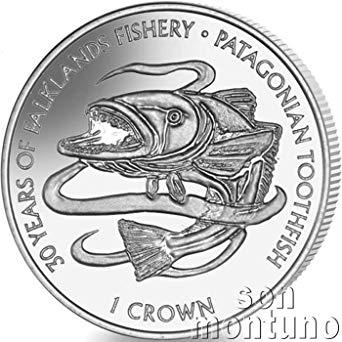 Chilean sea bass clipart image transparent PATAGONIAN TOOTHFISH - 2017 Falkland Islands 1 Crown Uncirculated ... image transparent