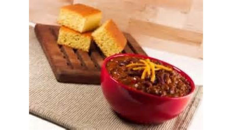 Chili and cornbread clipart svg transparent stock Gluten-free Corn Bread & Chili Combo svg transparent stock