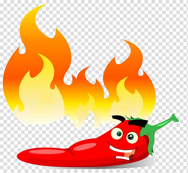 Chili with flame clipart banner free Chili pepper illustration, Chili con carne Jalapexf1o Bell pepper ... banner free