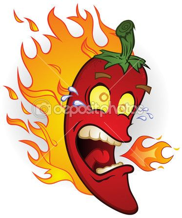 Chili with flame clipart image freeuse stock Flaming Hot Chili Pepper Cartoon Character &mdash Stock Illustration ... image freeuse stock