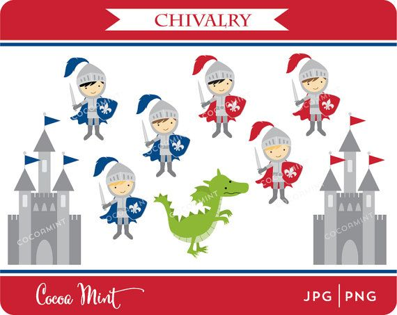 Chilvery clipart clip library library Chivalry Clip Art by cocoamint on Etsy, $5.00 | School | Chevalier ... clip library library