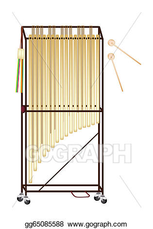 Chimes orchestra clipart clipart transparent download Vector Stock - A musical tubular bells isolated on white background ... clipart transparent download