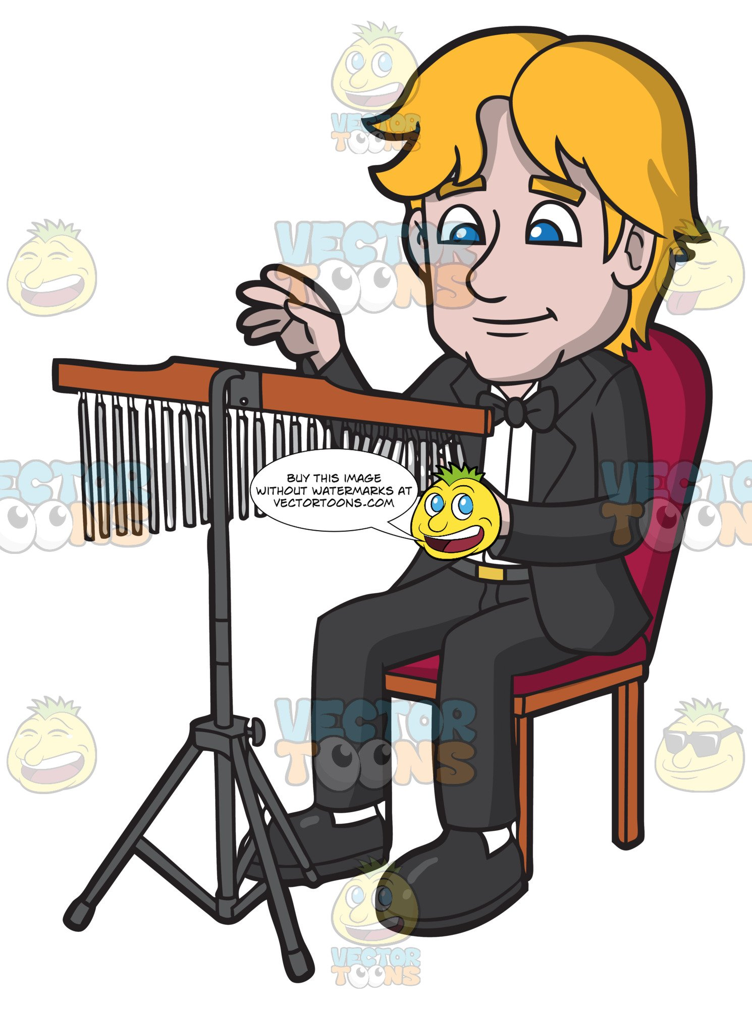 Chimes orchestra clipart transparent A Man Playing Chimes transparent