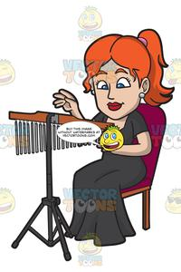 Chimes orchestra clipart vector free download A Woman Playing Chimes vector free download