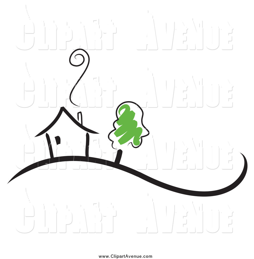 Chimney with smoke clipart clipart stock Avenue Clipart of a Home with Smoke Rising from the Chimney and a ... clipart stock