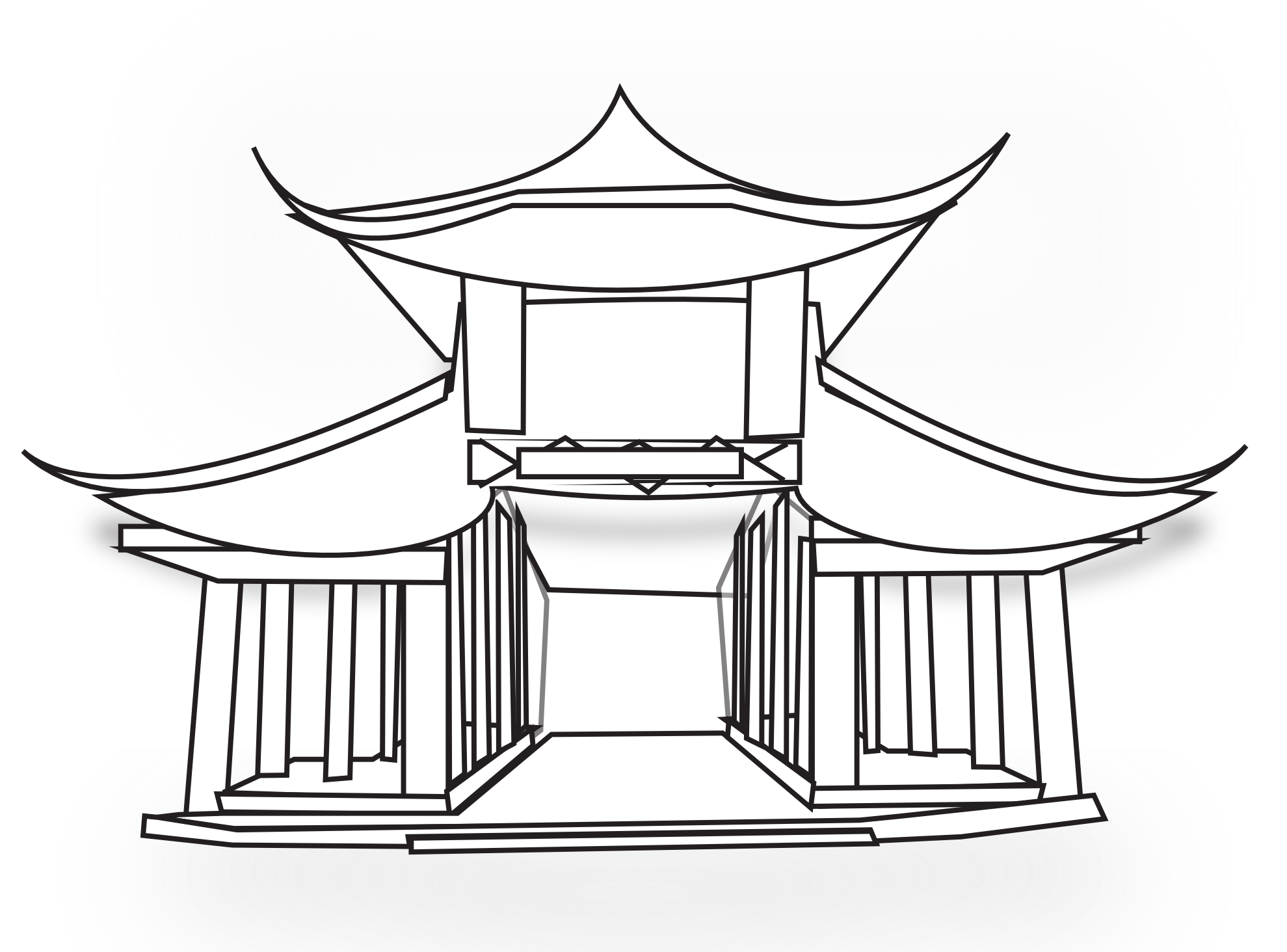 China house clipart png free stock 28+ Collection of Chinese Temple Clipart   High quality, free ... png free stock