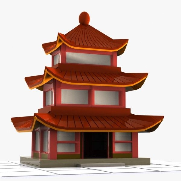 China house roof cliparts png royalty free library 3ds cartoon chinese house | Pandamino in 2019 | House 3d model ... png royalty free library