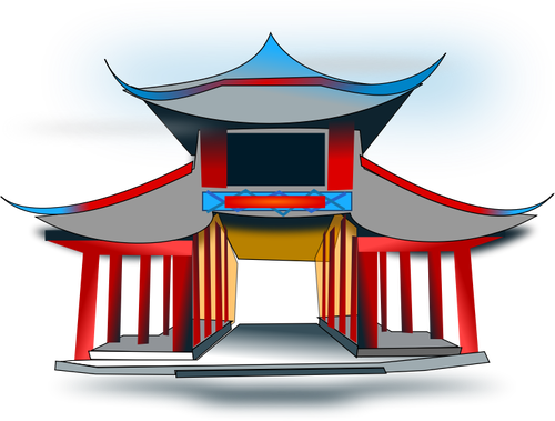China house roof cliparts banner freeuse download Chinese home cartoon image | Public domain vectors banner freeuse download