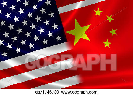 China usa clipart graphic free download Drawing - Merged flag of china and usa. Clipart Drawing gg71746730 ... graphic free download
