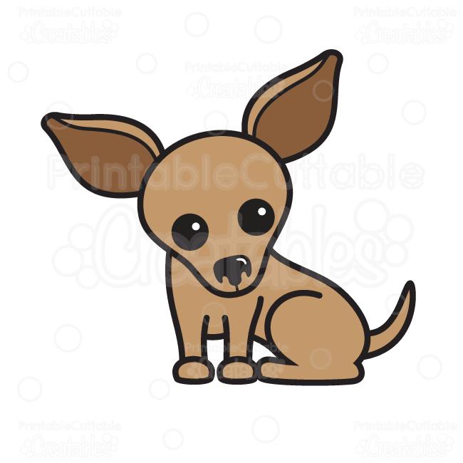 Chinahuahuas clipart free download Cute Chihuahua SVG Cutting File & Clipart free download