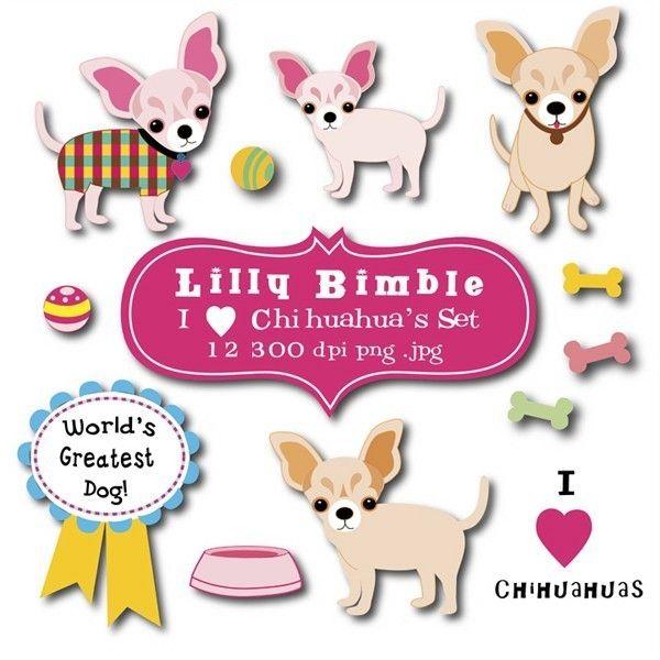 Chinahuahuas clipart png Chihuahua Clip Art Set. $1.00, via Etsy. | Dog Party Ideas ... png