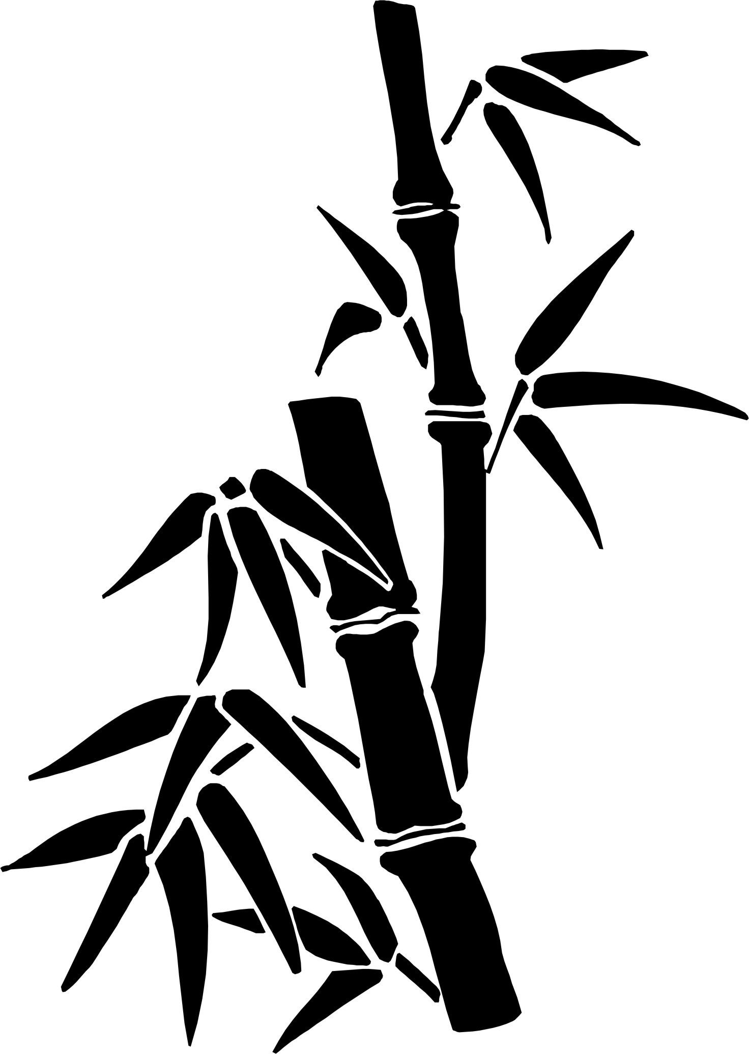 Chinese bamboo tree clipart png freeuse bamboo | Projects in 2019 | Bamboo drawing, Drawings, Chinese drawings png freeuse