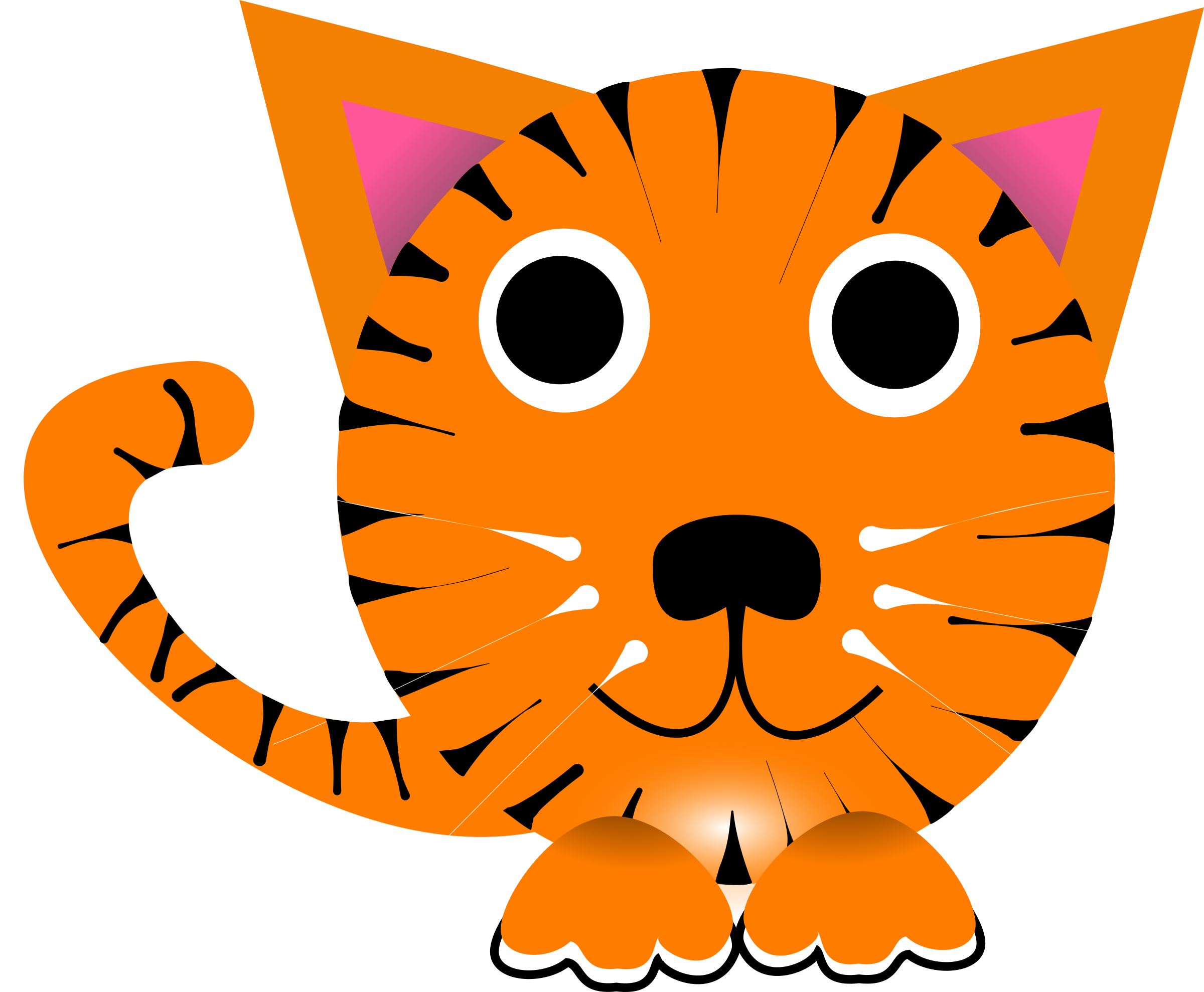 Chinese cat clipart vector stock Clipart - Chinese zodiac tiger vector stock