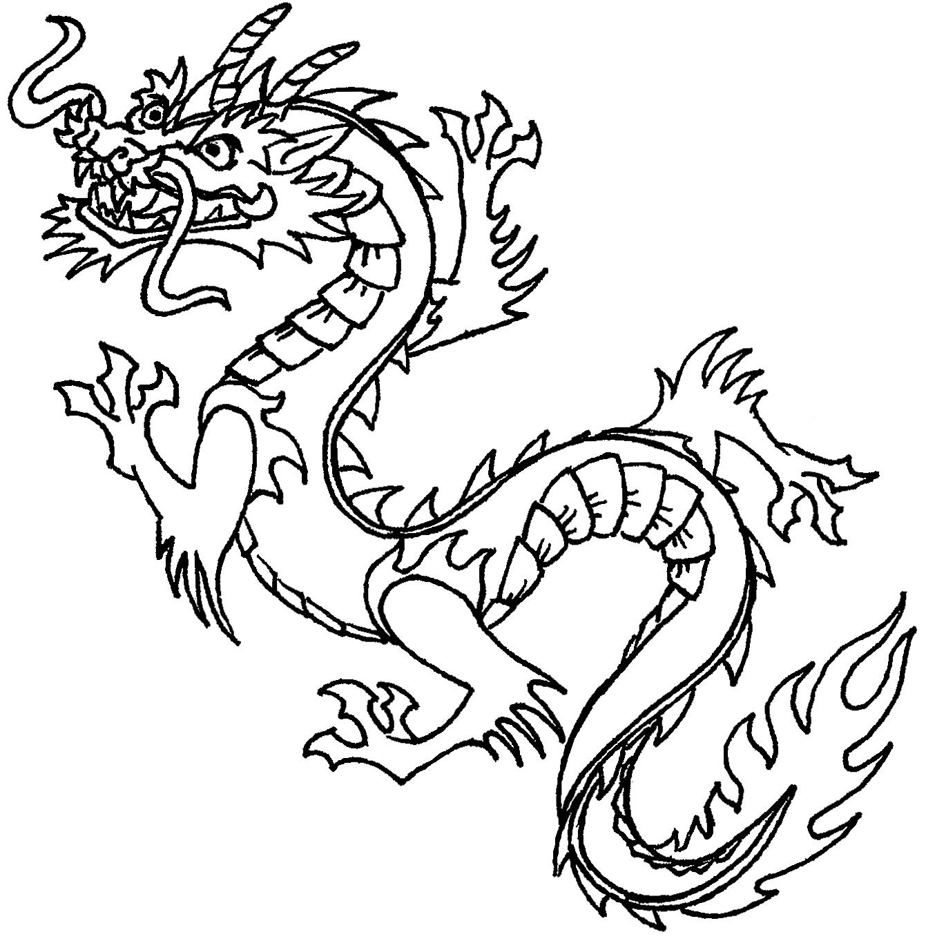 Chinese dragon clipart for kids clip art royalty free download Free Printable Chinese Dragon Coloring Pages For Kids | Stencils ... clip art royalty free download