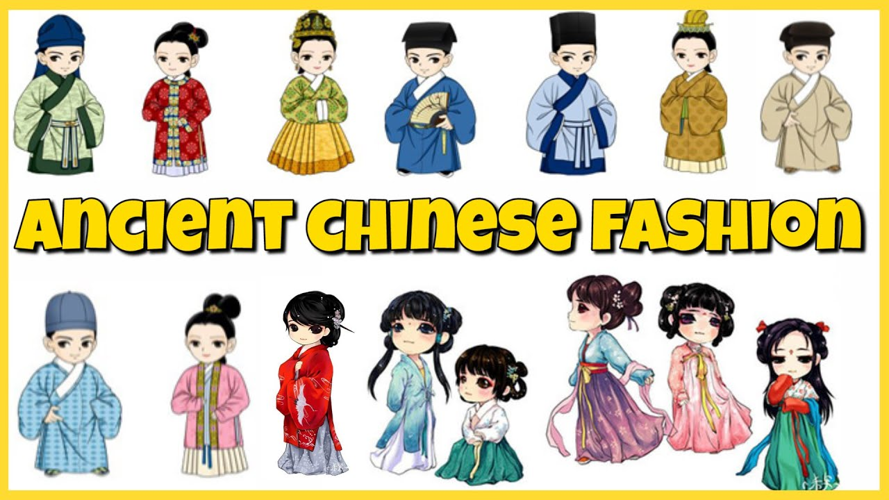 Chinese clothes clipart clip transparent download Chinese Fashion Through the Dynasties clip transparent download