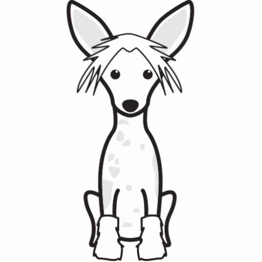 Chinese crested clipart images clip art Chinese Crested Dog Cartoon Cut Out | Chinese Crested Dog | Chinese ... clip art