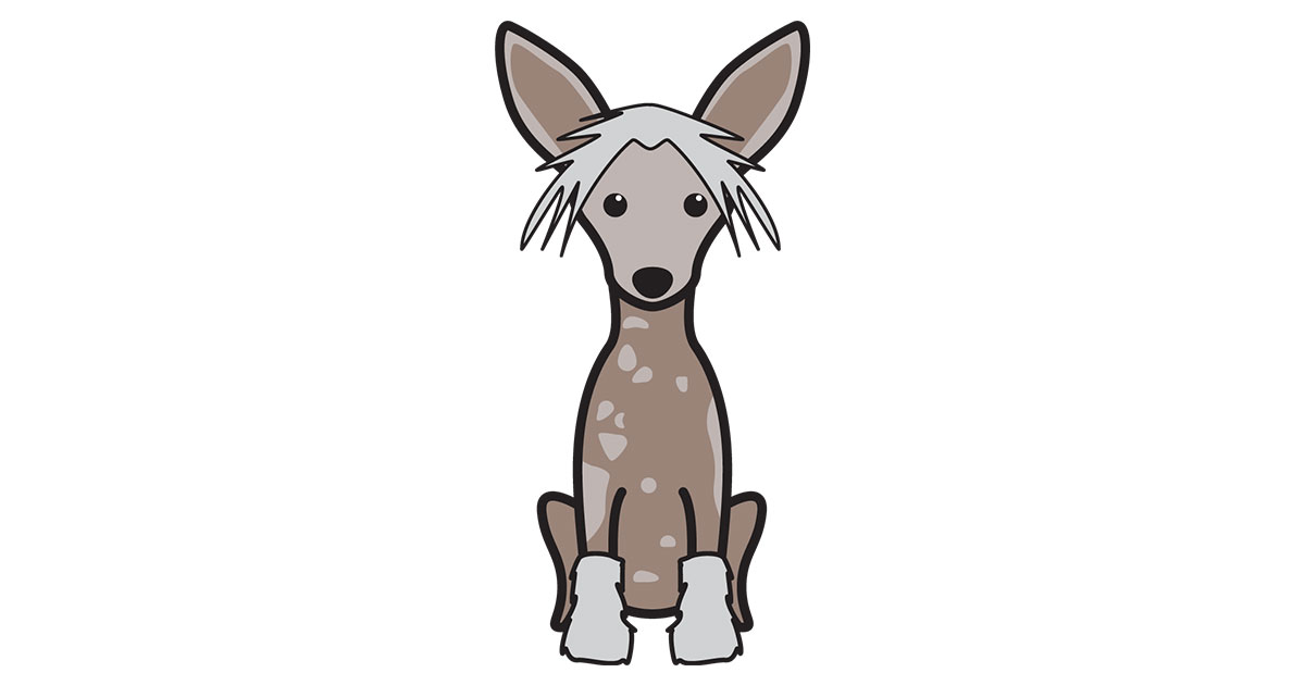 Chinese crested clipart images