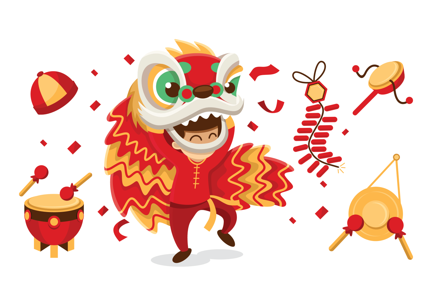 Chinese dancer clipart picture download Lion Dance Free Vector Art - (2,482 Free Downloads) picture download