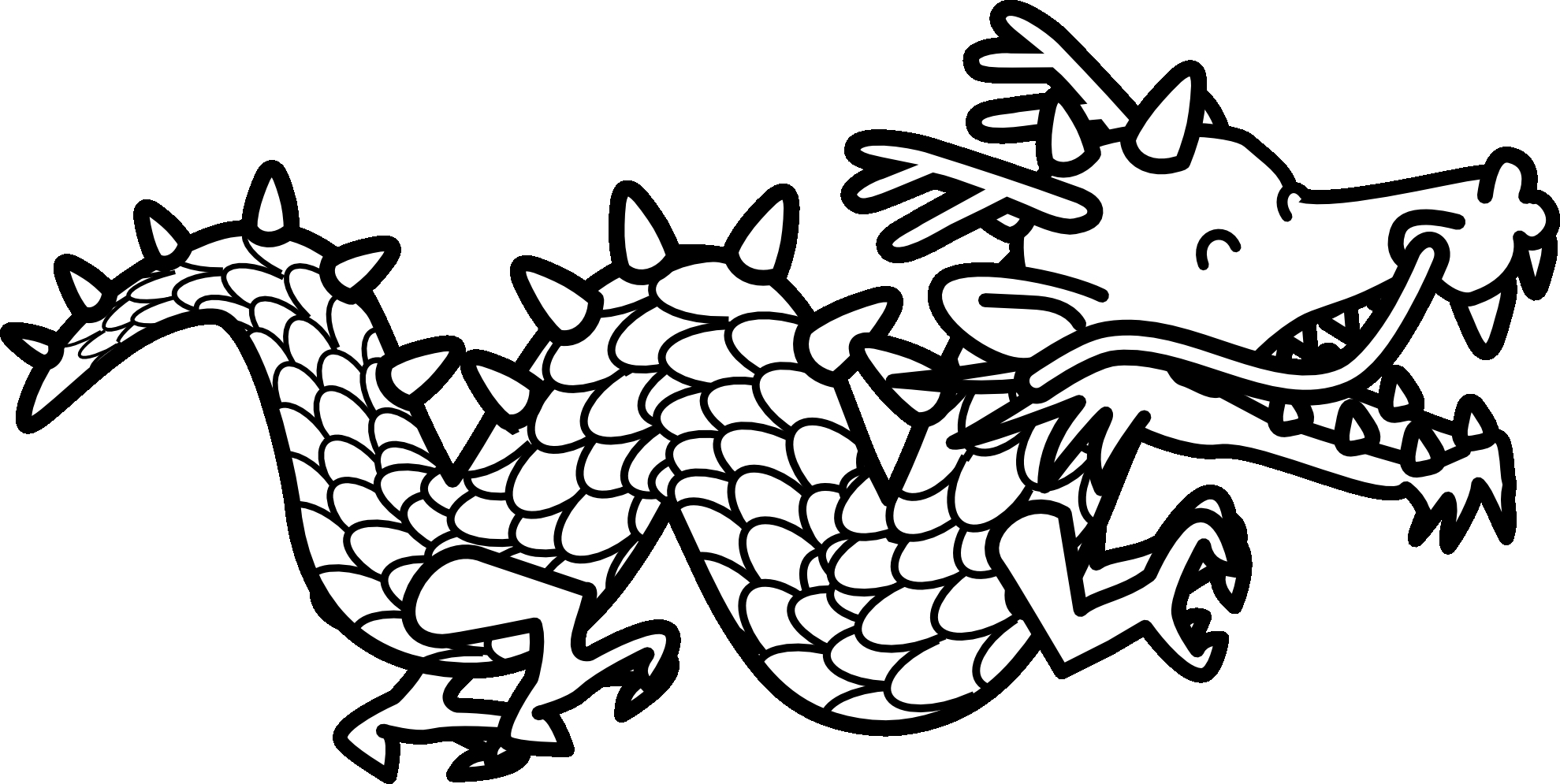 Chinese dragon tail clipart picture transparent Chinese dragon clipart Lovely Chinese Dragon Black And White ... picture transparent
