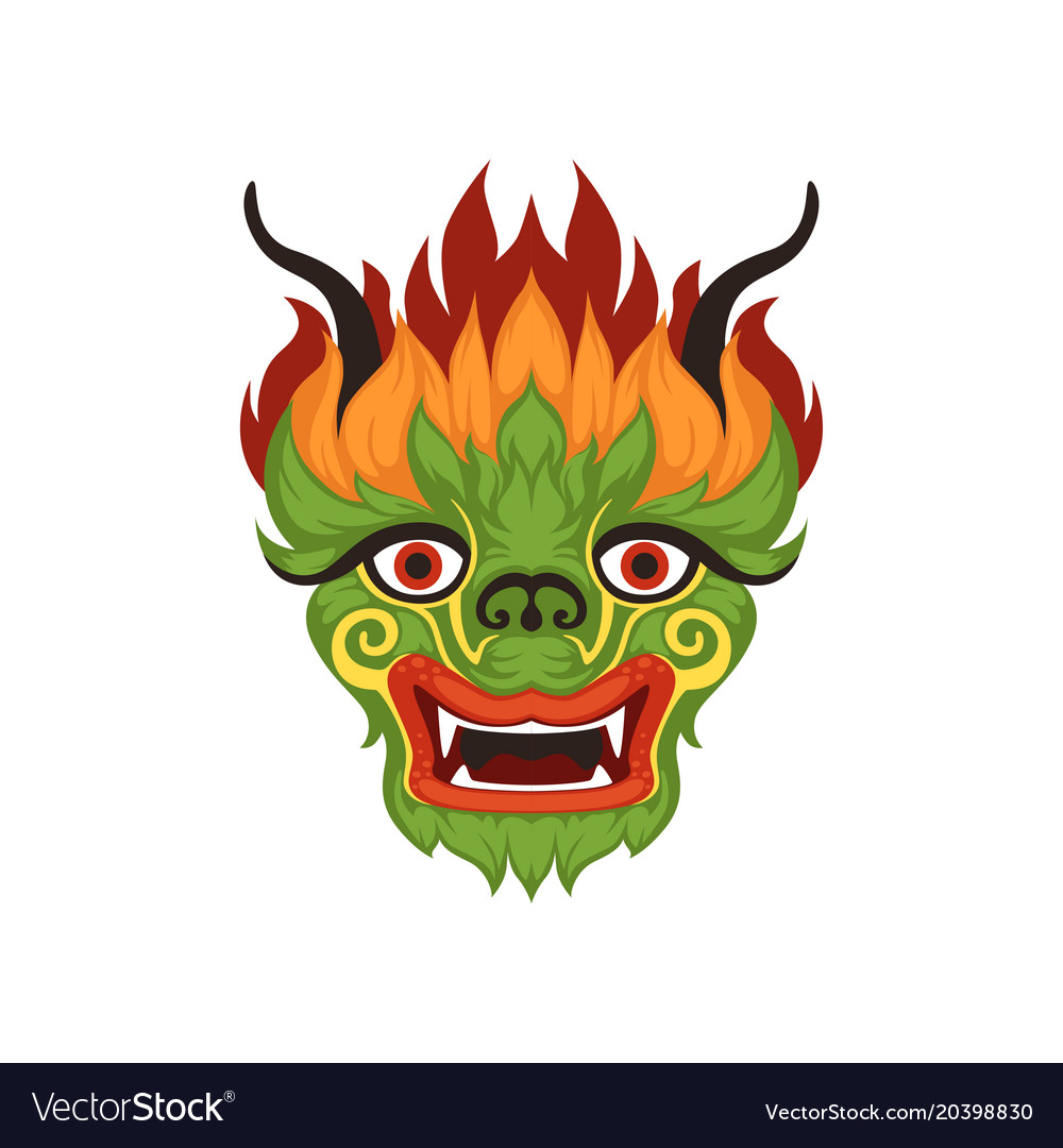 Chinese face clipart clip royalty free Chinese dragon face colorful symbol of clip royalty free