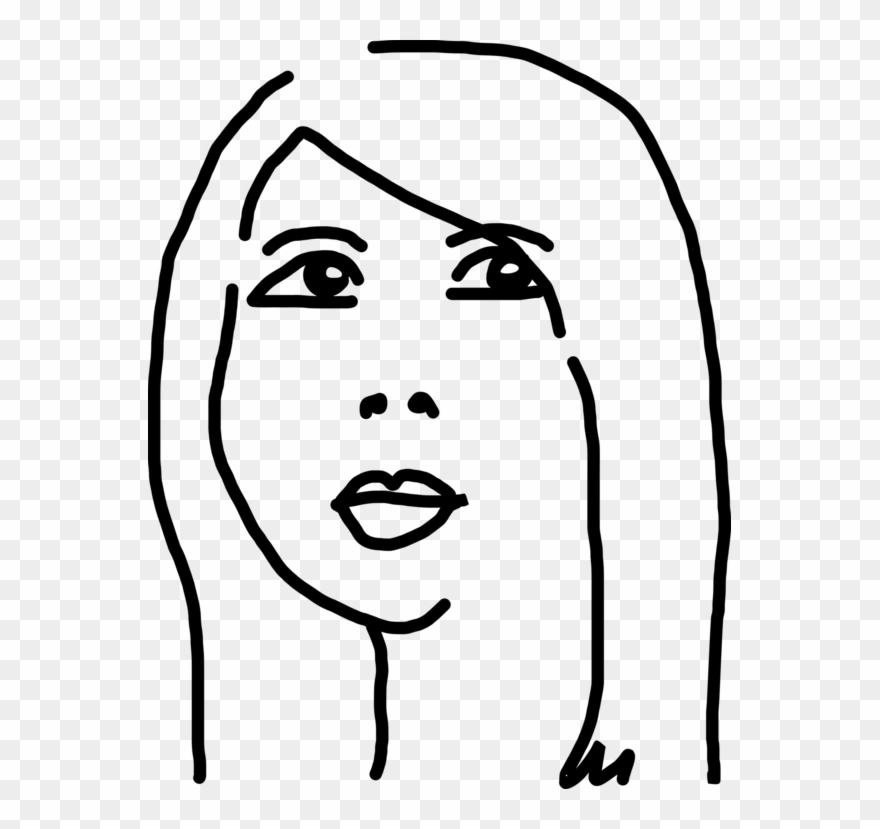 Chinese face clipart clip art freeuse download Black And White Woman Drawing Face Cartoon - Chinese Girl Drawing ... clip art freeuse download