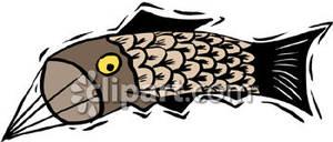 Chinese kite clipart jpg library Chinese Fish Kite - Royalty Free Clipart Picture jpg library