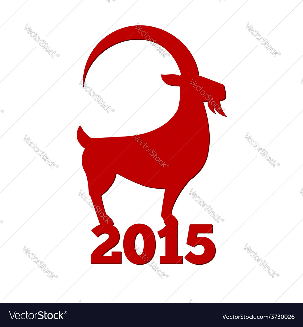 Chinese new year 2015 clipart clip freeuse Chinese New Year of the Goat 2015 vector image on VectorStock clip freeuse