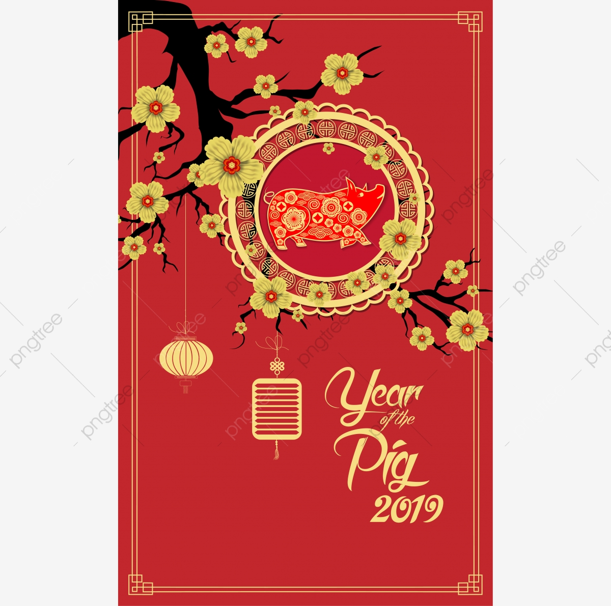 Free clipart for chinese new year 2019. Happy of the pig