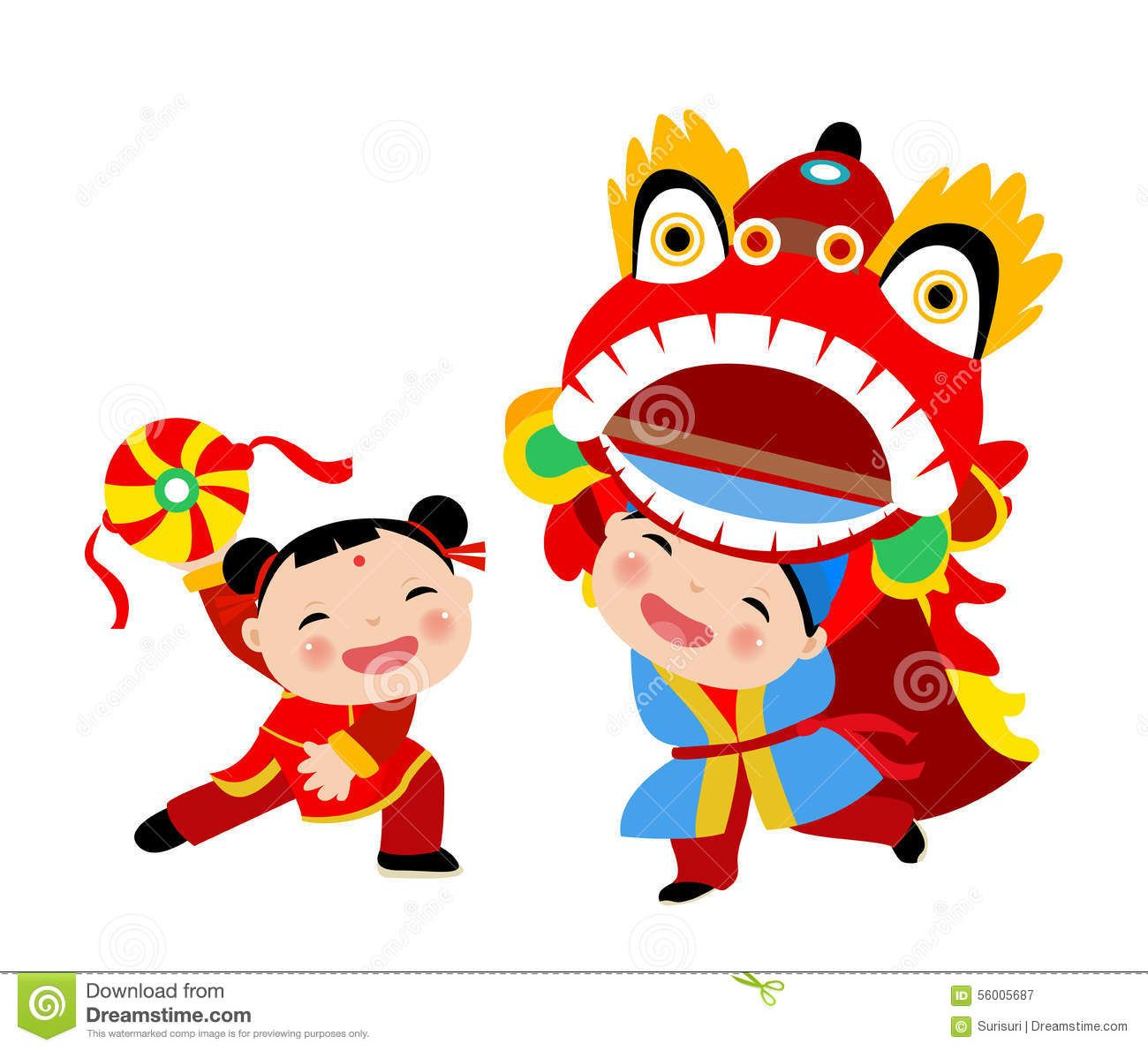 Free chinese new year clipart images. Happy lion dance royalty