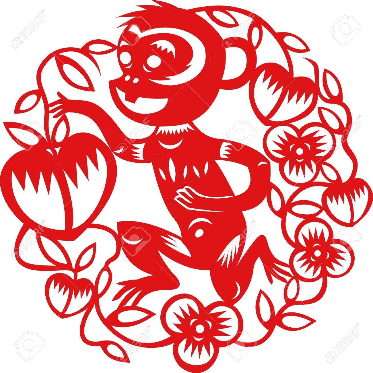 Chinese new year image clipart year of monkey clip transparent download Related image | 3rd Grade Art Lessons | Chinese paper cutting ... clip transparent download