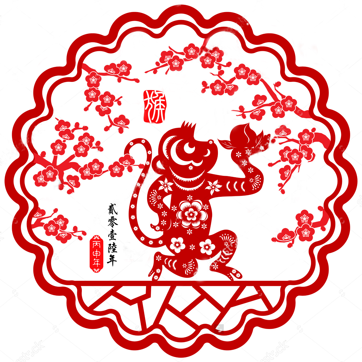 Chinese new year image clipart year of monkey svg free library Chinese New Year 2016: the personality of the monkey - Aleph svg free library